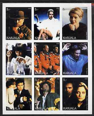 Karjala Republic 2000 Movies Scenes imperf sheetlet containing complete set of 9 values unmounted mint