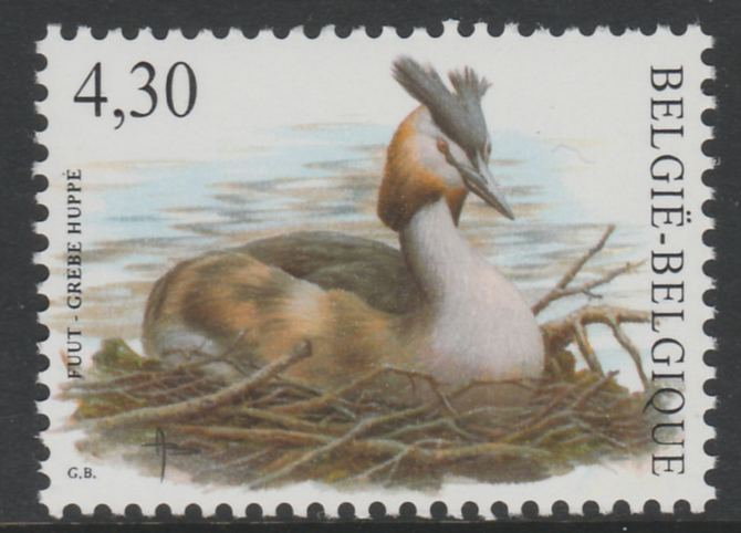 Belgium 2002-09 Birds #5 Great Crested Grebe 4.30 Euro unmounted mint SG 3708a