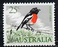 Australia 1966-73 Robin 25c from decimal def set unmounted mint, SG 396