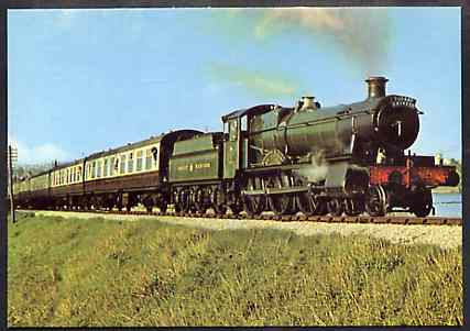 Postcard by Dennis - full colour showing GWR Manor Class 4-6-0 No. 7827 Lydham Manor', mint & very fine