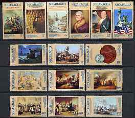 Nicaragua 1976 USA Bicentenary (1st issue) perf set of 15 unmounted mint SG 2000-2014