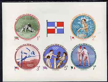 Dominican Republic 1960 Olympic Games - Winning Athletes from 1956 imperf m/sheet (postage) unmounted mint, as SG MS 818