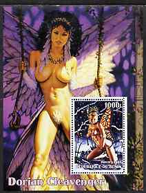 Benin 2002 Fantasy Art by Dorian Cleavenger #2 (Pin-ups) perf m/sheet unmounted mint