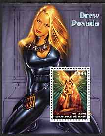 Benin 2002 Fantasy Art by Drew Posada #1 (Pin-ups) perf m/sheet unmounted mint