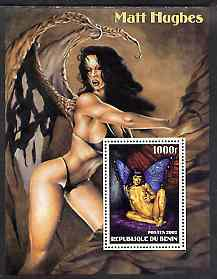 Benin 2002 Fantasy Art by Matt Hughes (Pin-ups) perf m/sheet unmounted mint