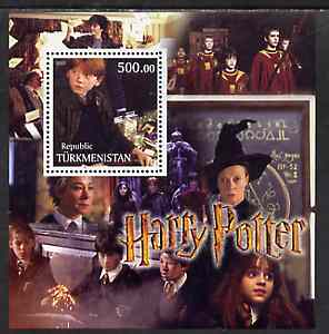 Turkmenistan 2001 Harry Potter perf m/sheet unmounted mint