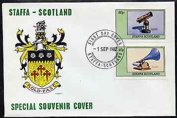 Staffa 1982 Inventions (Phonograph & Telescope) imperf  set of 2 values on cover with first day cancel