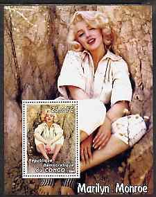 Congo 2002 Marilyn Monroe #02 perf m/sheet unmounted mint
