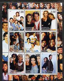 Tadjikistan 2000 Friends (TV Series) perf sheetlet containing 9 values unmounted mint