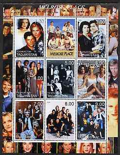 Tadjikistan 2000 Melrose Place (TV Series) perf sheetlet containing 9 values unmounted mint