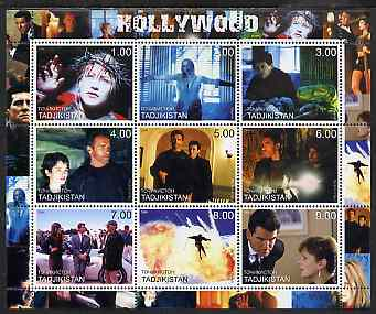 Tadjikistan 2000 Hollywood perf sheetlet containing set of 9 values unmounted mint