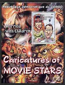 Congo 2001 Caricatures of Movie Stars - Married With Children perf souvenir sheet unmounted mint