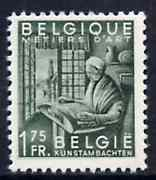 Belgium 1948-49 Woman Making Lace 1f75 grey-green (from Industry set) unmounted mint SG1220*