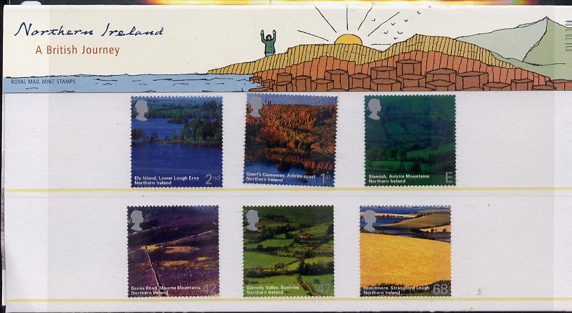 Great Britain 2004 A British Journey - Northern Ireland set of 6 in official presentation pack unmounted mint SG 2439-44