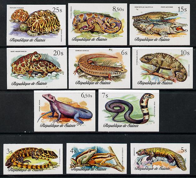 Guinea - Conakry 1977 Reptiles imperf set of 11 unmounted mint as SG 937-47
