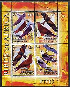 Palestine (PNA) 2005 Birds of Africa - Kites perf sheetlet containing 4 values each with Scout Logo unmounted mint