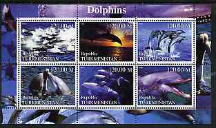 Turkmenistan 2000 Dolphins perf sheetlet containing 6 values unmounted mint