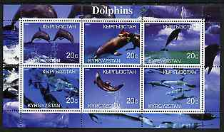 Kyrgyzstan 2000 Dolphins perf sheetlet containing 6 values unmounted mint