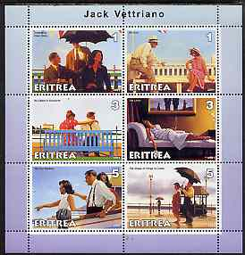 Eritrea 2001 Art of Jack Vettriano #2 perf sheetlet containing 6 values unmounted mint
