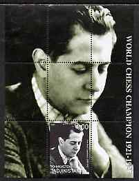 Tadjikistan 2000 World Chess Champions - Jose Capablanca perf s/sheet unmounted mint