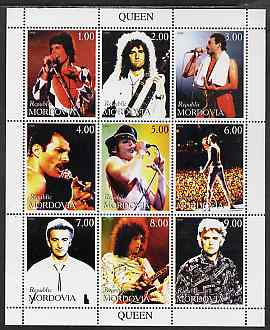 Mordovia Republic 1999 Queen (Pop Group) perf sheetlet containing 9 values unmounted mint