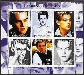 Kyrgyzstan 2000 Leonardo Di Caprio perf sheetlet containing 6 values unmounted mint