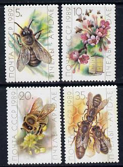 Russia 1989 Bees set of 4 unmounted mint, SG 5996-99, Mi 5950-53*