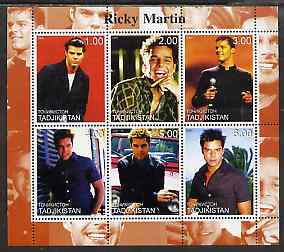 Tadjikistan 2000 Ricky Martin perf sheetlet containing 6 values unmounted mint