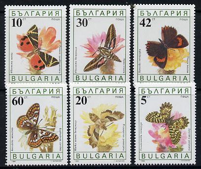 Bulgaria 1990 Butterflies set of 6 unmounted mint, SG 3699-3704 (Mi 3852-57)*
