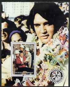 Djibouti 2004 Elvis Presley #1 perf s/sheet with Rotary Logo, unmounted mint