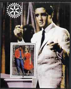 Djibouti 2004 Elvis Presley #2 perf s/sheet with Rotary Logo, unmounted mint