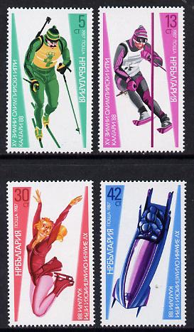 Bulgaria 1987 Winter Olympic Games set of 4 unmounted mint, SG 3475-78 (Mi 3617-20)