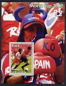 Island of Freedom 2002 Football World Cup #03 perf s/sheet unmounted mint