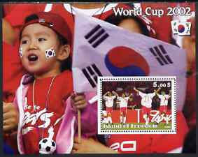 Island of Freedom 2002 Football World Cup #05 perf s/sheet unmounted mint