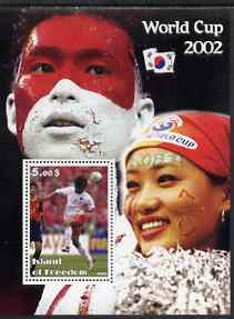 Island of Freedom 2002 Football World Cup #07 perf s/sheet unmounted mint