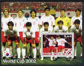 Island of Freedom 2002 Football World Cup #10 perf s/sheet unmounted mint
