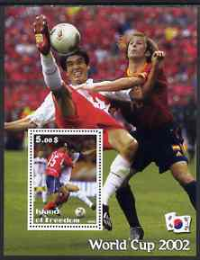 Island of Freedom 2002 Football World Cup #11 perf s/sheet unmounted mint