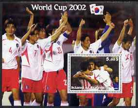 Island of Freedom 2002 Football World Cup #13 perf s/sheet unmounted mint
