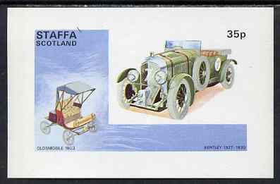 Staffa 1973 Veteran Cars (Albion & Buick) imperf souvenir sheet (35p value) cto used