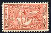Saudi Arabia 1937 General Hospital Charity Tax 1/8g vermilion fine mounted mint single, SG 346