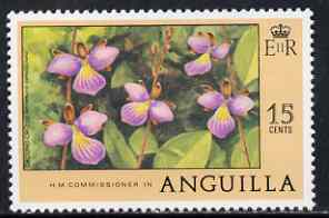 Anguilla 1977-78 Ground Orchid 15c (from def set) unmounted mint, SG 281