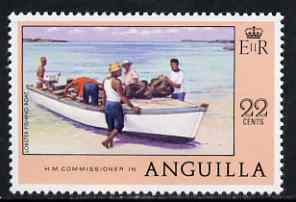 Anguilla 1977-78 Lobster Fishing Boat 22c (from def set) unmounted mint, SG 283