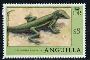 Anguilla 1977-78 Grand Lizard $5 (from def set) unmounted mint, SG 288