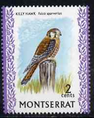 Montserrat 1970-74 American Kestral 2c on chalky paper unmounted mint, SG 243