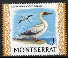 Montserrat 1970-74 Red Footed Booby 1c on chalky paper unmounted mint, SG 242