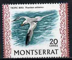 Montserrat 1972-74 Tropic Bird 20c on chalky paper unmounted mint, SG 301