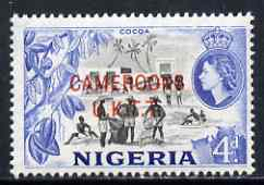 Cameroun 1960-61 Cocoa 4d (from def set) unmounted mint SG T6