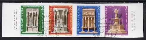 Hungary 1975 Stamp Day (Preservation of Monuments) m/sheet imperf and fine used, Mi BL115