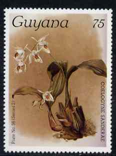 Guyana 1985-89 Orchids Series 2 plate 56 (Sanders' Reichenbachia) 75c unmounted mint, SG 1875
