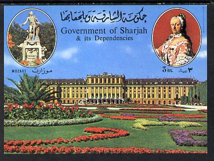 Sharjah 1970 Mozart imperf m/sheet Mi BL 74 unmounted mint